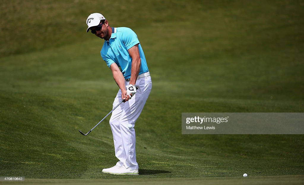 <a gi-track='captionPersonalityLinkClicked' href=/galleries/search?phrase=Sebastien+Gros&family=editorial&specificpeople=7865464 ng-click='$event.stopPropagation()'>Sebastien Gros</a> of France chips onto the 10th green during day two of the Challenge de Madrid at the El Encín Golf Hotel on April 22, 2015 in Madrid, Spain.