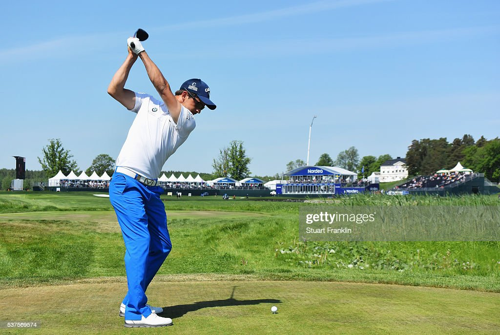 <a gi-track='captionPersonalityLinkClicked' href=/galleries/search?phrase=Sebastien+Gros&family=editorial&specificpeople=7865464 ng-click='$event.stopPropagation()'>Sebastien Gros</a> of France plays a shot during the first round of the Nordea Masters at Bro Hof Slott Golf Club on June 2, 2016 in Stockholm, Sweden.