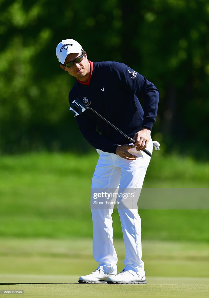 <a gi-track='captionPersonalityLinkClicked' href=/galleries/search?phrase=Sebastien+Gros&family=editorial&specificpeople=7865464 ng-click='$event.stopPropagation()'>Sebastien Gros</a> of France watches his putt on the 8th green during the final round on day four of the Nordea Masters at Bro Hof Slott Golf Club on June 5, 2016 in Stockholm, Sweden.