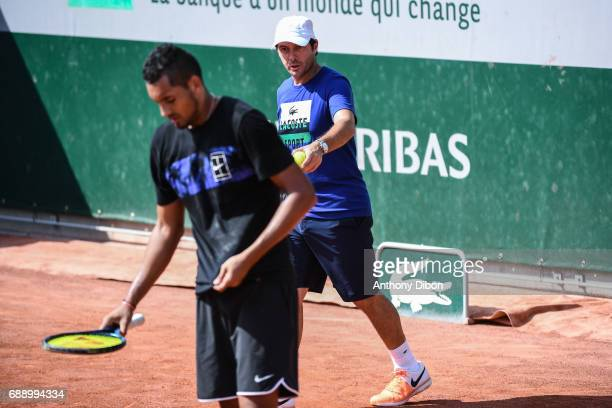 Sebastien Grosjean coach of Nick Kyrgios during the Roland Garros Kid's Day of the French Open at Roland Garros on May 27 2017 in Paris France