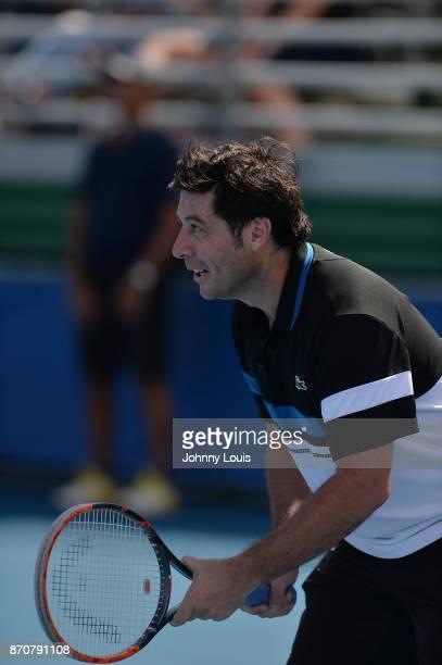 Sebastien Grosjean participates in the 28th Annual Chris Evert/Raymond James ProCelebrity Tennis Classic at Delray Beach Tennis Center on November 5...