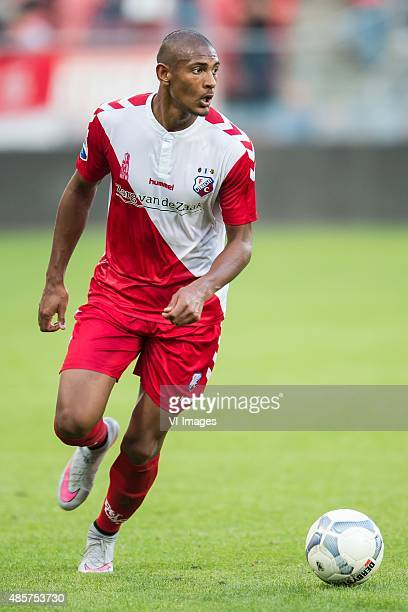 Sebastien Haller of FC Utrecht during the Dutch Eredivisie match between FC Utrecht and FC Groningen at the Galgenwaard Stadium on August 29 2015 in...