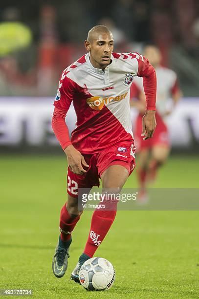 Sebastien Haller of FC Utrecht during the Dutch Eredivisie match between FC Utrecht and Roda JC Kerkrade at the Galgenwaard Stadium on October 17...