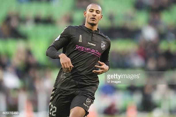 Sebastien Haller of FC Utrecht during the Dutch Eredivisie match between FC Groningen and FC Utrecht at Euroborg on January 17 2016 in Groningen The...