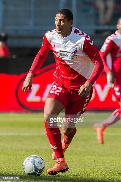 Sebastien Haller of FC Utrecht during the Dutch Eredivisie match between FC Utrecht and ADO Den Haag at the Galgenwaard stadium on march 13 2016 in...
