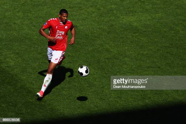 Sebastien Haller of FC Utrecht in action during the Dutch Eredivisie match between FC Utrecht and FC Twente at Stadion Galgenwaard on April 9 2017 in...