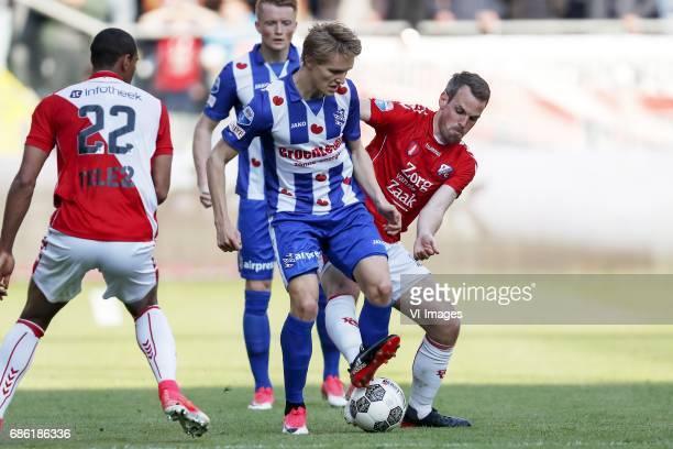 Sebastien Haller of FC Utrecht Sam Larsson of sc Heerenveen Martin Odegaard of sc Heerenveen Wout Brama of FC Utrechtduring the Dutch Eredivisie...