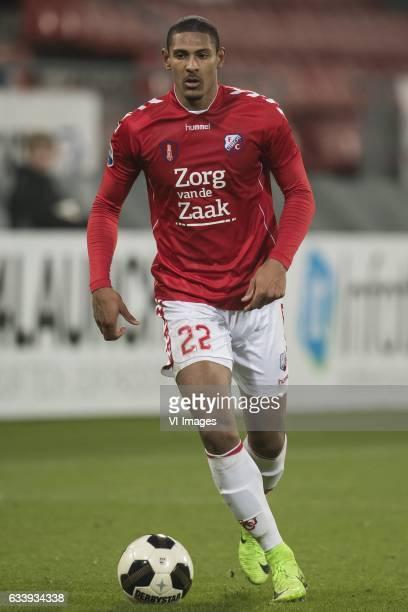 Sebastien Haller of FC Utrechtduring the Dutch Eredivisie match between FC Utrecht and sc Heerenveen at the Galgenwaard Stadium on February 05 2017...