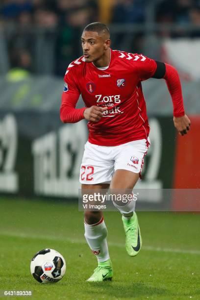 Sebastien Haller of FC Utrechtduring the Dutch Eredivisie match between FC Utrecht and PEC Zwolle at the Galgenwaard Stadium on February 18 2017 in...
