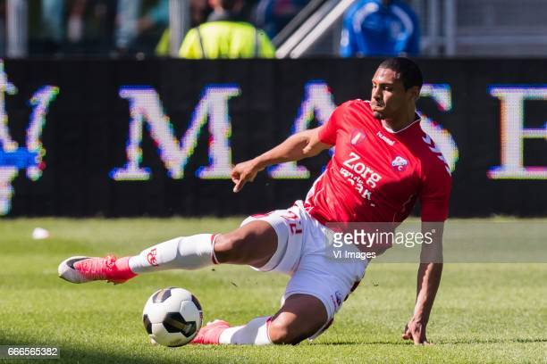Sebastien Haller of FC Utrechtduring the Dutch Eredivisie match between FC Utrecht and FC Twente Enschede at the Galgenwaard Stadium on April 09 2017...