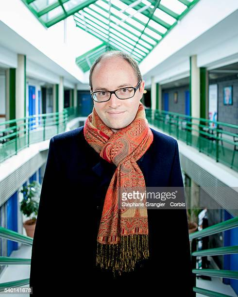 Sebastien Heymann Founder and CEO of Linkurious poses during a photoshoot on April 29 2016 in Paris France