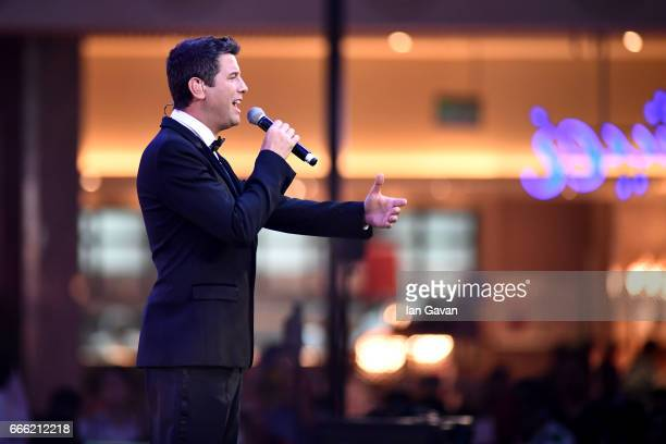 Sebastien Izambard of Il Divo performs during the Grand Opening of The Mall of Qatar at Mall of Qatar on April 8 2017 in Doha Qatar