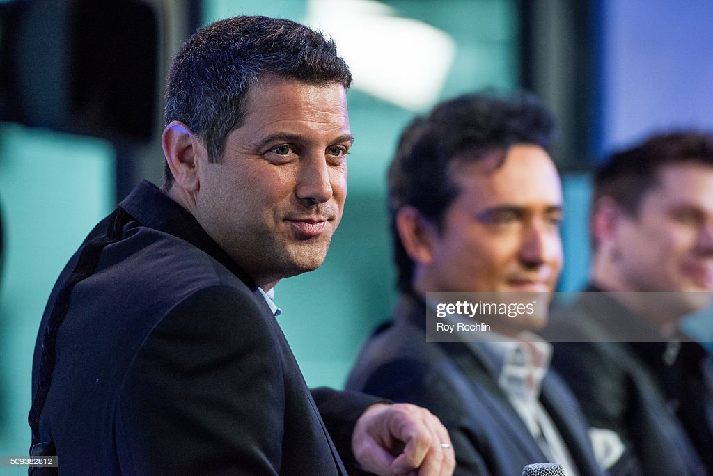 Sebastien izambard of multinational classical crossover vocal group Il Divo discusseses their new album, 'Amor & Pasion' at AOL Studios In New York on February 10, 2016 in New York City.