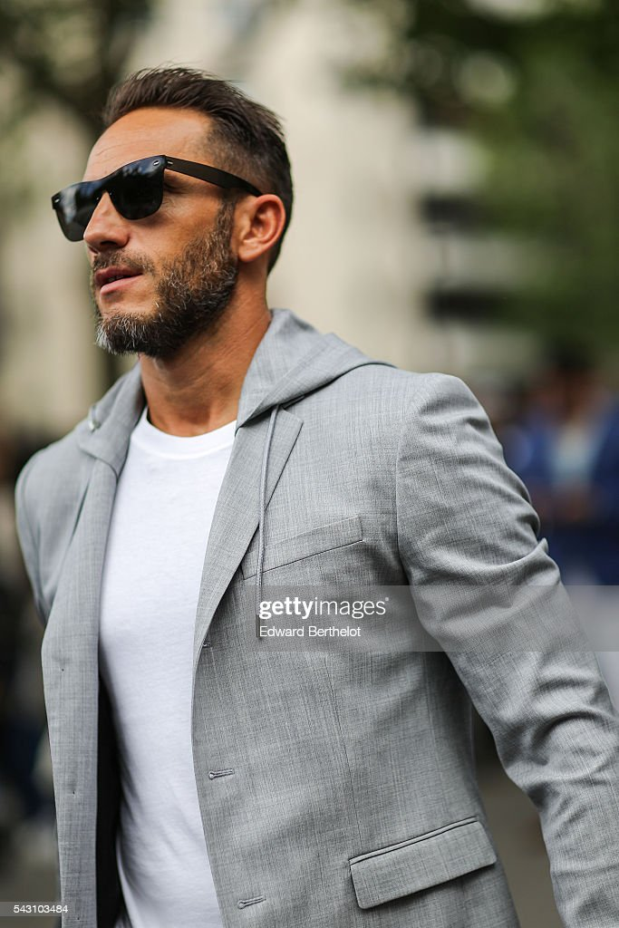 Sebastien Jondeau, driver of Karl Lagerfeld, is seen, after the Dior show, during Paris Fashion Week Menswear Spring/summer 2017, on June 25, 2016 in Paris, France.