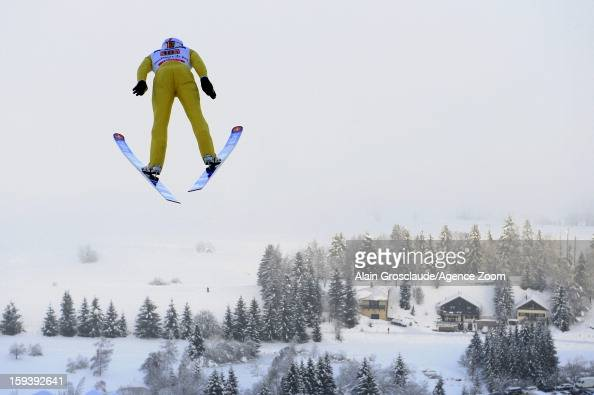 Sebastien Lacroix of France competes during the FIS Nordic Combined World Cup Team Sprint on January 13 2013 in ChauxNeuve France