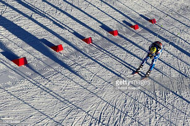Sebastien Lacroix of France competes in the Nordic Combined Team 4x5km race during the FIS Nordic World Ski Championships at Holmenkollen on March 4...