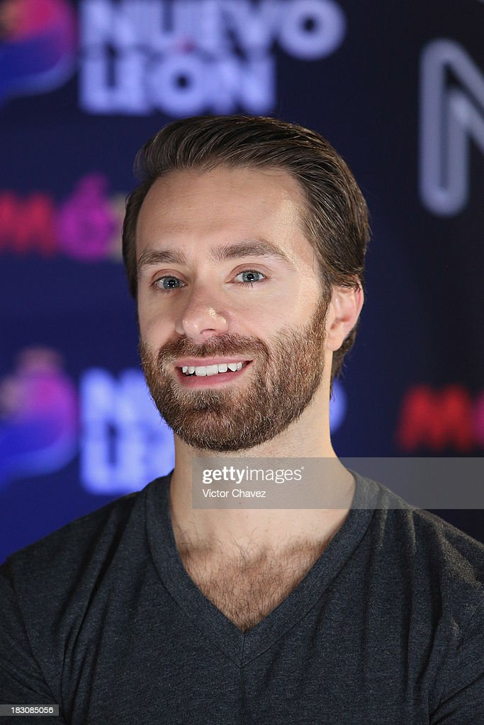 Sebastien Lefebvre of Simple Plan attends a press conference during the MTV World Stage Monterrey Mexico 2013 at Arena Monterrey on October 3 2013 in...
