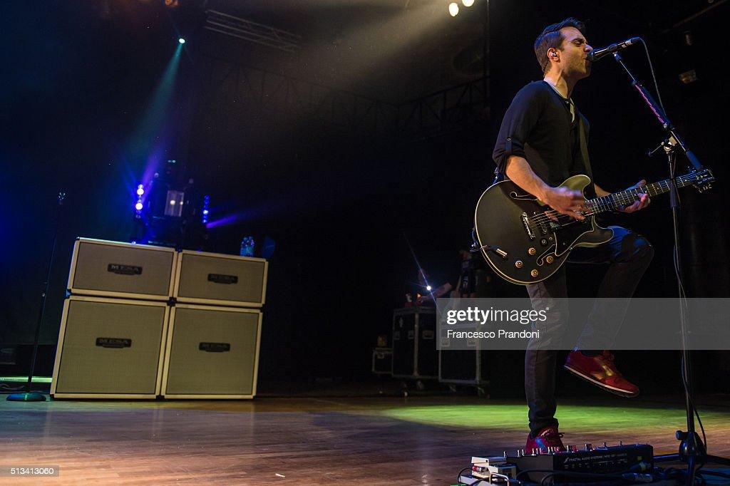 Sebastien Lefebvre of Simple plan perform on March 2 2016 in Milan Italy