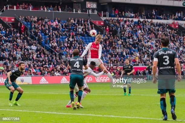 Sebastien Locigno of Go Ahead Eagles Xandro Schenk of Go Ahead Eagles Mateo Cassierra of Ajax Frenkie de Jong of Ajax Sander Fischer of Go Ahead...