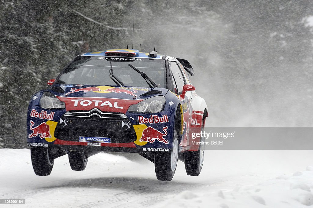 Sebastien Loeb of France and Daniel Elena of Monaco compete in their Citroen Total World Rally Team DS3 WRC during the Shakedown of the WRC Rally of...