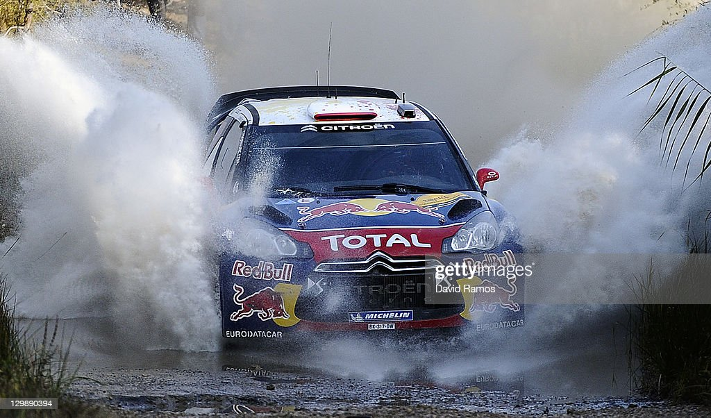 <a gi-track='captionPersonalityLinkClicked' href=/galleries/search?phrase=Sebastien+Loeb&family=editorial&specificpeople=203172 ng-click='$event.stopPropagation()'>Sebastien Loeb</a> of France and <a gi-track='captionPersonalityLinkClicked' href=/galleries/search?phrase=Daniel+Elena&family=editorial&specificpeople=212897 ng-click='$event.stopPropagation()'>Daniel Elena</a> of Monaco compete in their Citroen Total WRT Citroen DS3 WRC during the second stage of the first day of the WRC Rally of Spain on October 21, 2011 in La Fatarella, Spain.