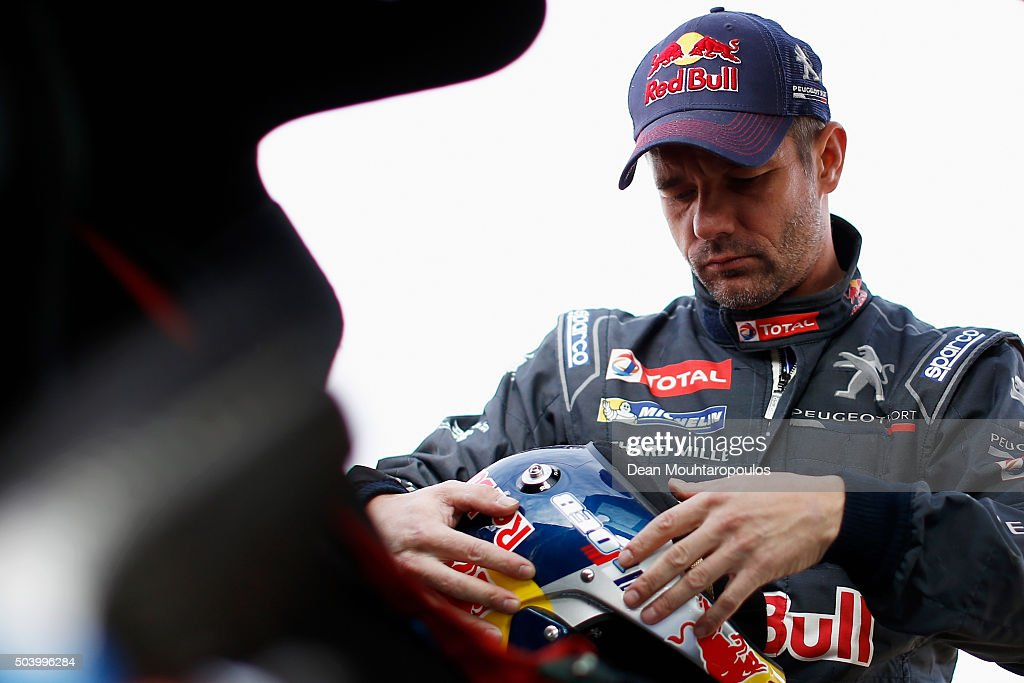 Sebastien Loeb of France in the PEUGEOT 2008 DKR for TEAM PEUGEOT TOTAL gets ready to compete on day 6 during stage six of the 2016 Dakar Rally on January 8, 2016 in near Uyuni, Bolivia.