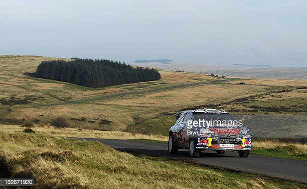 Sebastien Ogier of France and Citroen Total WRT in action during the Halfway stage on day four of the FIA World Rally Championship Great Britain at...