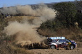 Sebastien Ogier of France and Julien Ingrassia of France compete in their Citroen Total WRT Citroen DS3 WRC during the Shakedown of the WRC Rally...