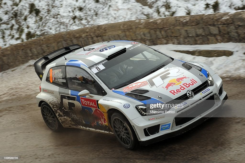 <a gi-track='captionPersonalityLinkClicked' href=/galleries/search?phrase=Sebastien+Ogier&family=editorial&specificpeople=4946813 ng-click='$event.stopPropagation()'>Sebastien Ogier</a> of France and <a gi-track='captionPersonalityLinkClicked' href=/galleries/search?phrase=Julien+Ingrassia&family=editorial&specificpeople=4947850 ng-click='$event.stopPropagation()'>Julien Ingrassia</a> of France compete in their Volkswagen Motorsport Volkswagen Polo WRC during Day Three of the WRC Monte-Carlo on January 18 , 2013 in Montecarlo ,Monaco.