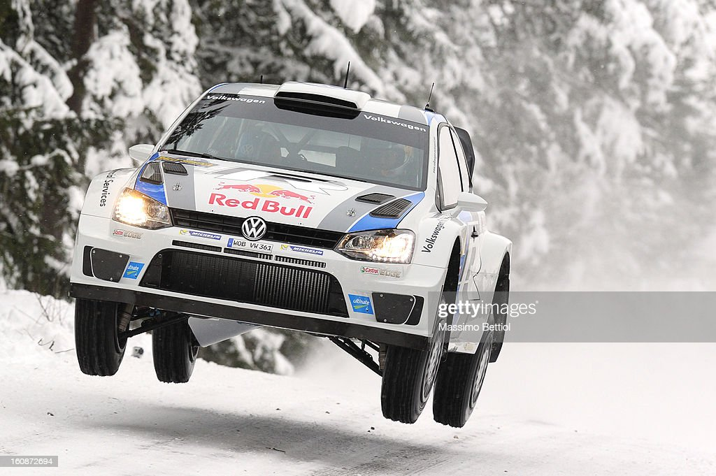 <a gi-track='captionPersonalityLinkClicked' href=/galleries/search?phrase=Sebastien+Ogier&family=editorial&specificpeople=4946813 ng-click='$event.stopPropagation()'>Sebastien Ogier</a> of France and <a gi-track='captionPersonalityLinkClicked' href=/galleries/search?phrase=Julien+Ingrassia&family=editorial&specificpeople=4947850 ng-click='$event.stopPropagation()'>Julien Ingrassia</a> of France compete in their Volkswagen Motorsport WRT Volkswagen Polo R WRC during the Shakedown of the WRC Sweden on February 07, 2013 in Karlstad, Sweden.