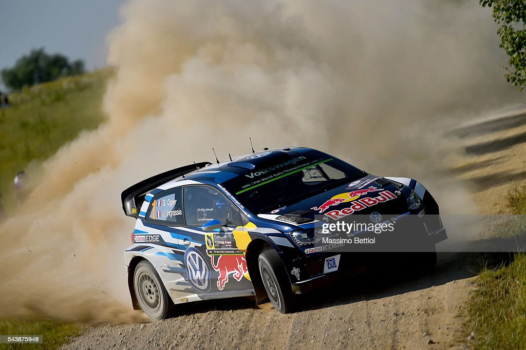 <a gi-track='captionPersonalityLinkClicked' href=/galleries/search?phrase=Sebastien+Ogier&family=editorial&specificpeople=4946813 ng-click='$event.stopPropagation()'>Sebastien Ogier</a> of France and <a gi-track='captionPersonalityLinkClicked' href=/galleries/search?phrase=Julien+Ingrassia&family=editorial&specificpeople=4947850 ng-click='$event.stopPropagation()'>Julien Ingrassia</a> of France compete in their Volkswagen Motorsport WRT Volkswagen Polo R WRC during the Shakedown of the WRC Poland on June 30, 2016 in Mikolajki, Poland.