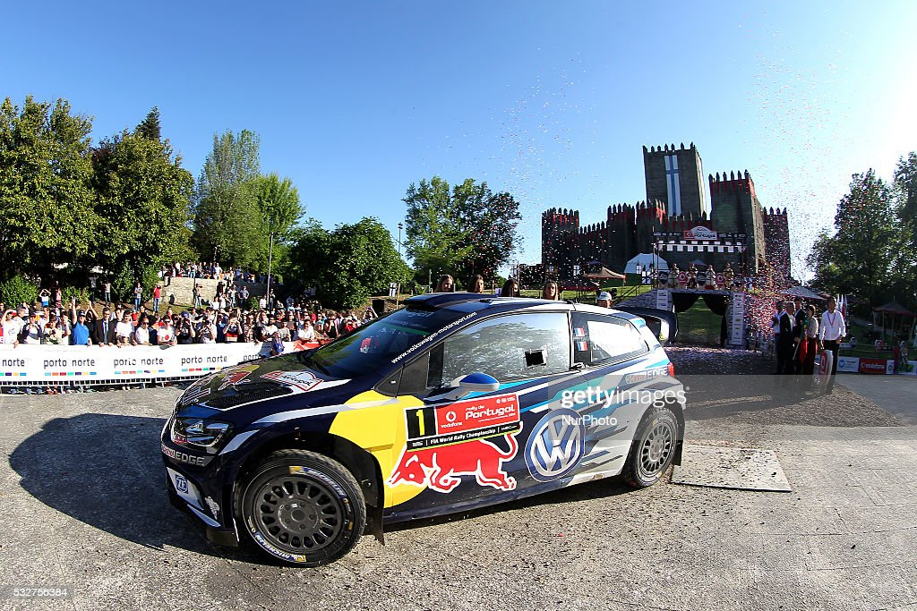 Sebastien Ogier of France and Julien Ingrassia of France in Volkswagen Motorsport Volkswagen Polo R WRC in action during the Start of the WRC Vodafone Rally Portugal 2016 in Matosinhos - Portugal, on May 19, 2016.