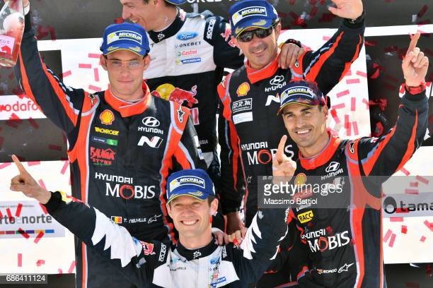 Sebastien Ogier of France and Julien Ingrassia of France Thierry Neuville of Belgium and Nicolas Gilsoul of Belgium Daniel Sordo of Spain and Marc...