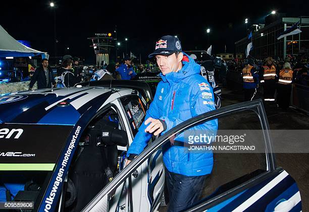 Sebastien Ogier of France is pictured ahead of the Rally Sweden second round of the FIA World Rally Championship on February 11 2016 in Karlstad...