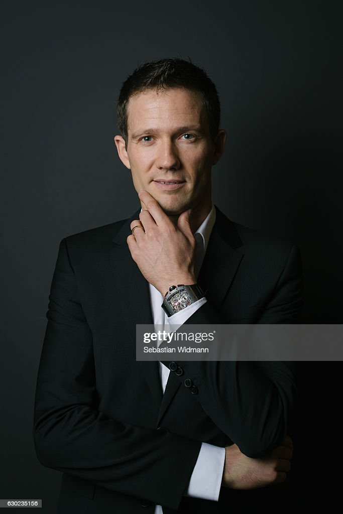 Sebastien Ogier poses for photographs during a portrait session on November 3, 2016 in Munich, Germany.