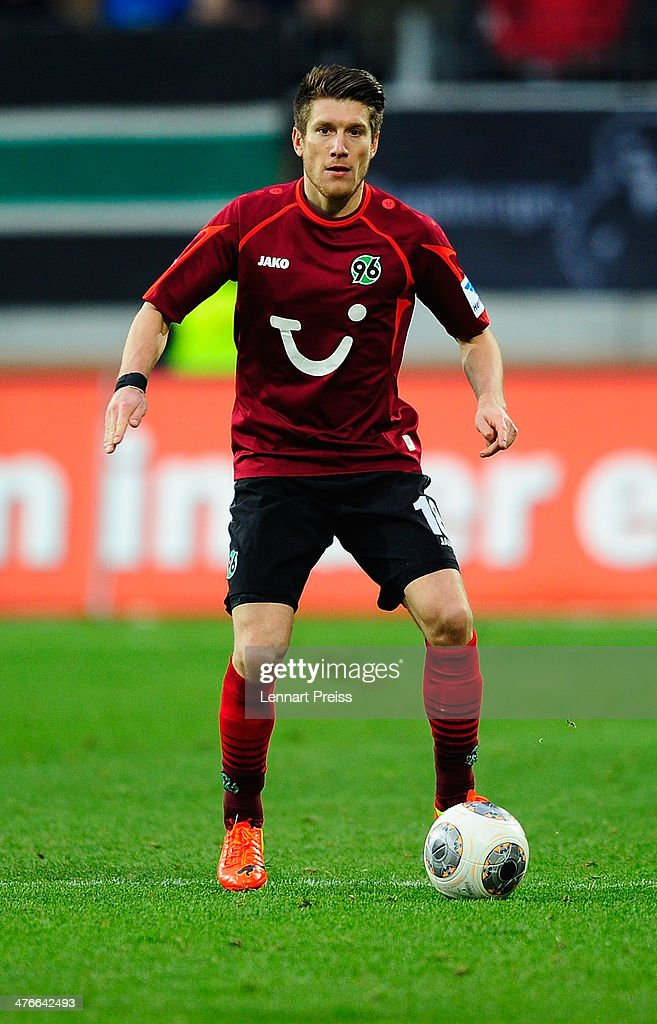 <a gi-track='captionPersonalityLinkClicked' href=/galleries/search?phrase=Sebastien+Pocognoli&family=editorial&specificpeople=3942105 ng-click='$event.stopPropagation()'>Sebastien Pocognoli</a> of Hannover in action during the Bundesliga match between FC Augsburg and Hannover 96 at SGL Arena on March 1, 2014 in Augsburg, Germany.
