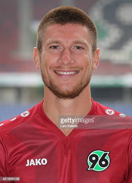 Sebastien Pocognoli poses during the team presentation at HDIArena on July 8 2014 in Hanover Germany