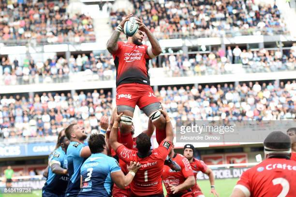 Sebastien Taofifenua of Toulon during the Top 14 match between Montpellier and Rc Toulon at on September 17 2017 in Montpellier France