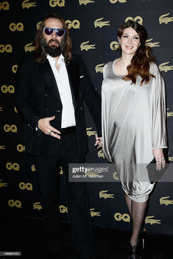 Sebastien Tellier and his wife attend GQ Men of the year awards 2012 at Musee d'Orsay on January 16, 2013 in Paris, France.