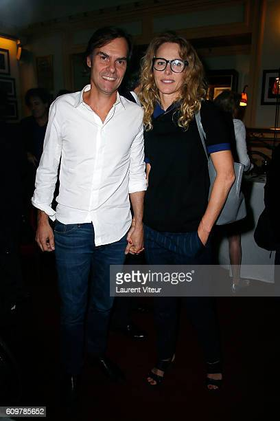 Sebastien Thiery and Pascale Arbillot attend 'Couple' Theater Play at Theatre Edouard VII on September 22 2016 in Paris France