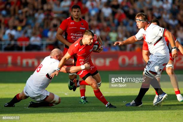 Sebastien Tillous Borde of Toulon during the preseason match between Rc Toulon and Lyon OU at Felix Mayol Stadium on August 17 2017 in Toulon France