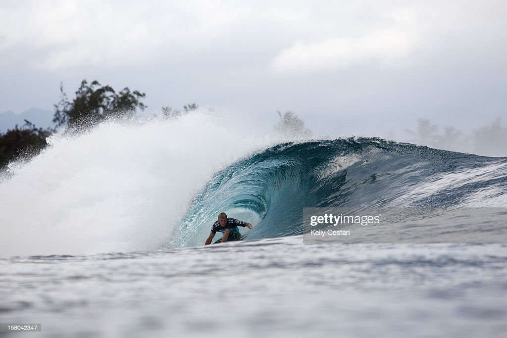 Sebastien Ziets of Hawaii advanced into the Quarter Finals of the Billabong Pipe Masters at Pipeline and doing so won the VANS Triple Crown Championship on December 9, 2012 in North Shore, Hawaii.