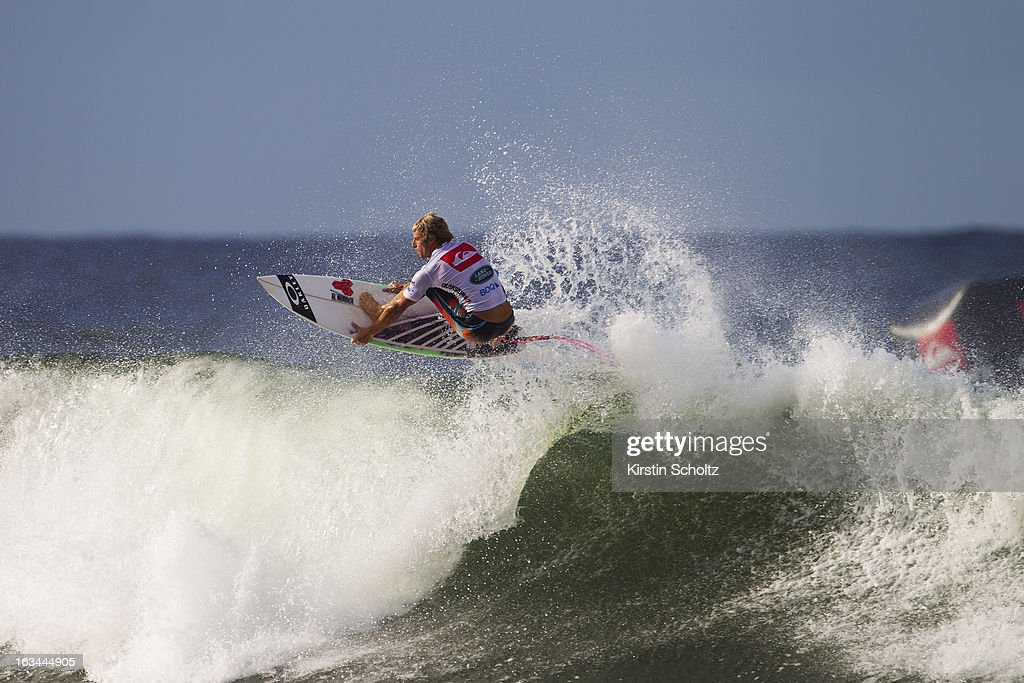 Sebastien Zietz of Hawaii surfs during round three during the Quiksilver Pro on March 10, 2013 in Gold Coast, Australia.