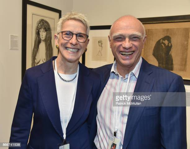 Sebina Klein and guest attends the IFPDA Fine Art Print Fair Opening Preview at The Jacob K Javits Convention Center on October 25 2017 in New York...