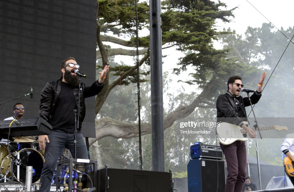 Sebu Simonian and Ryan Merchant of Capital Cities perform during the Outside Lands Music Festival at Golden Gate Park on August 9 2014 in San...