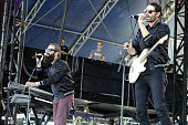 Sebu Simonian and Ryan Merchant of Capital Cities perform during the 2014 Hangout Music Festival at Hangout Beach on May 18 2014 in Gulf Shores...