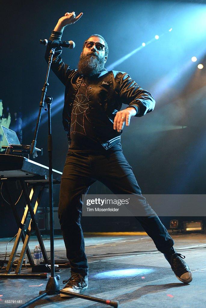Sebu Simonian of Capital Cities performs as part of Radio 94.7's Electric Christmas at Sleep Train Arena on December 4, 2013 in Sacramento, California.