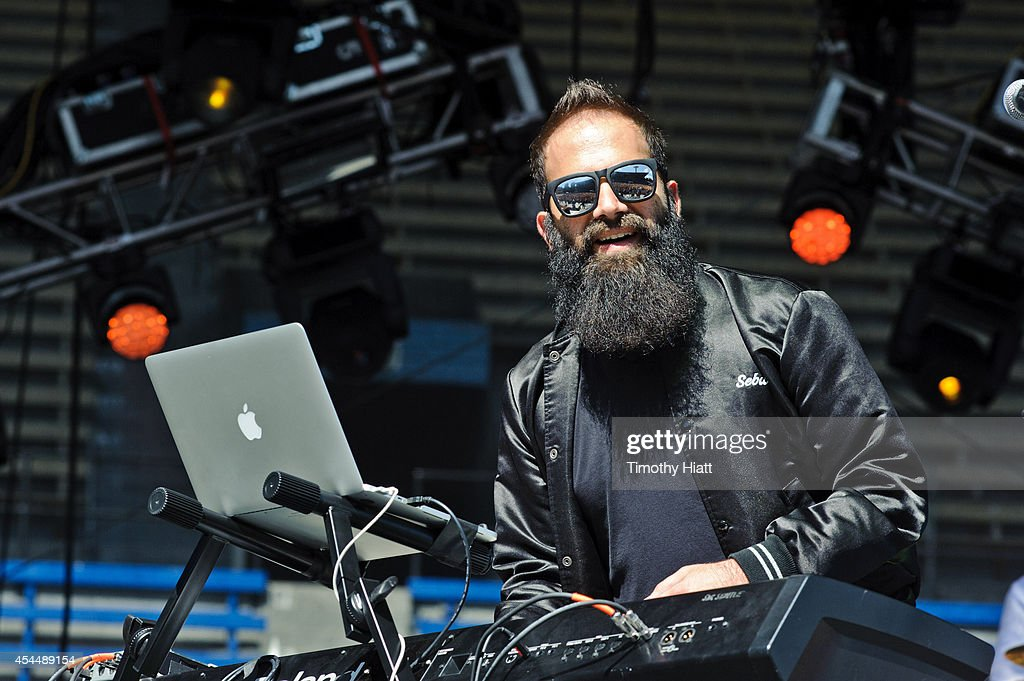 Sebu Simonian of Capital Cities performs on day three of the Bumbershoot Music and Arts Festival September 1, 2014 in Seattle, Washington.