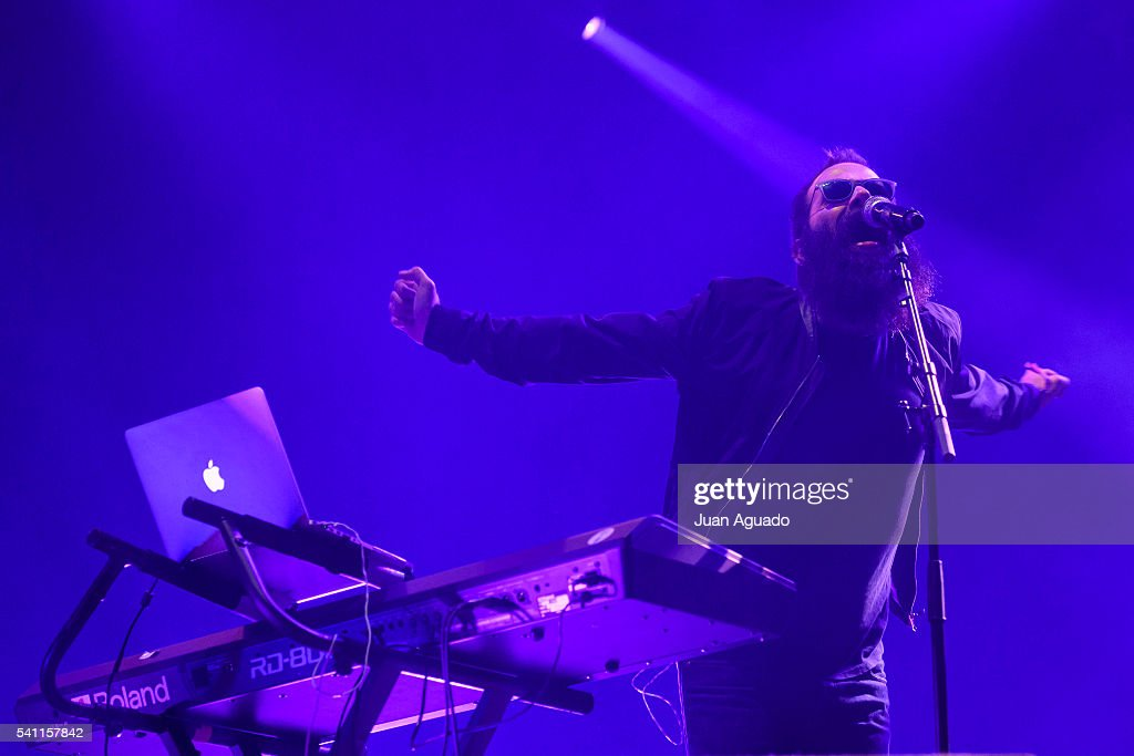 Sebu Simonian of Capital Cities performs on stage at Mad Cool Festival on June 18 2016 in Madrid Spain