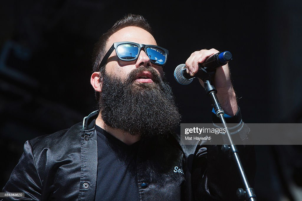 Sebu Simonian of Capital Cities performs on the main stage during the Bumbershoot Music and Arts Festival on September 1 2014 in Seattle Washington